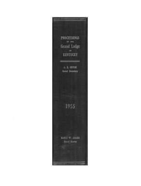 1955 - Proceedings of the Grand Lodge, F. & A.M., of Kentucky