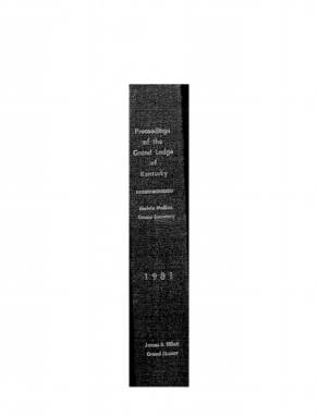 1981 - Proceedings of the Grand Lodge, F. & A.M., of Kentucky