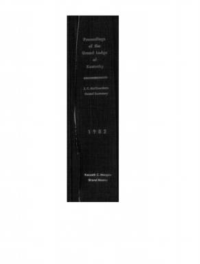 1982 - Proceedings of the Grand Lodge, F. & A.M., of Kentucky