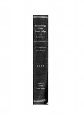 1976 - Proceedings of the Grand Lodge, F. & A.M., of Kentucky