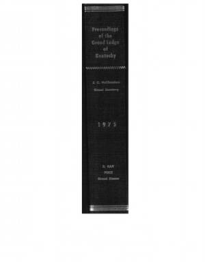 1975 - Proceedings of the Grand Lodge, F. & A.M., of Kentucky