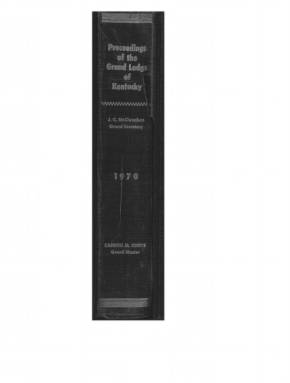 1970 - Proceedings of the Grand Lodge, F. & A.M., of Kentucky