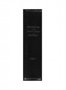 1922 - Proceedings of the Grand Lodge, F. & A. M., of Kentucky