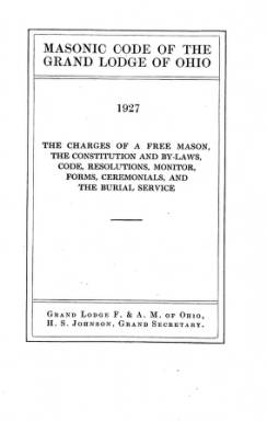1927(A) - Proceedings of the Grand Lodge, F. & A.M., of Ohio