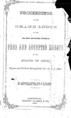 1870 - Proceedings of the Grand Lodge, F. & A.M., of Ohio