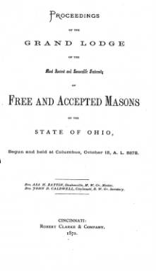1872 - Proceedings of the Grand Lodge, F. & A.M., of Ohio
