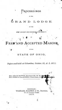 1873 - Proceedings of the Grand Lodge, F. & A.M., of Ohio