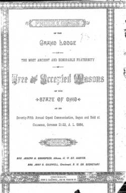 1884 - Proceedings of the Grand Lodge, F. & A.M., of Ohio