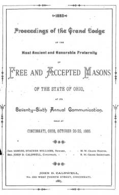 1885 - Proceedings of the Grand Lodge, F. & A.M., of Ohio