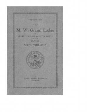 1931 - Proceedings of the Grand Lodge, A.F. & A.M., of West Virginia