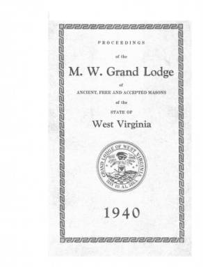 1940 - Proceedings of the Grand Lodge, A.F. & A.M., of West Virginia