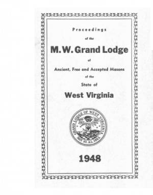 1948 - Proceedings of the Grand Lodge, A.F. & A.M., of West Virginia