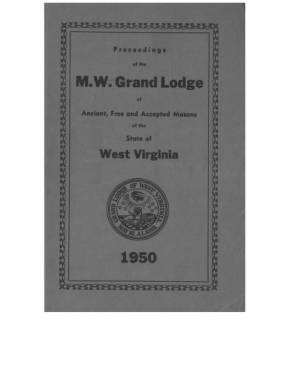 1950 - Proceedings of the Grand Lodge, A.F. & A.M., of West Virginia