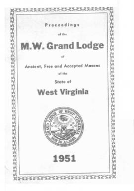 1951 - Proceedings of the Grand Lodge, A.F. & A.M., of West Virginia