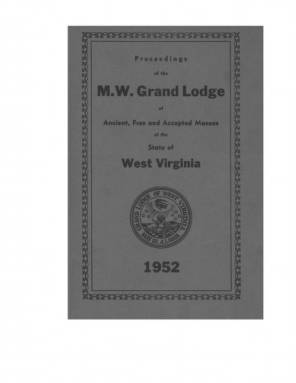 1952 - Proceedings of the Grand Lodge, A.F. & A.M., of West Virginia