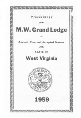 1959 - Proceedings of the Grand Lodge, A.F. & A.M., of West Virginia