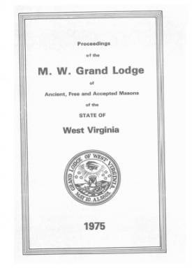 1975 - Proceedings of the Grand Lodge, A.F. & A.M., of West Virginia