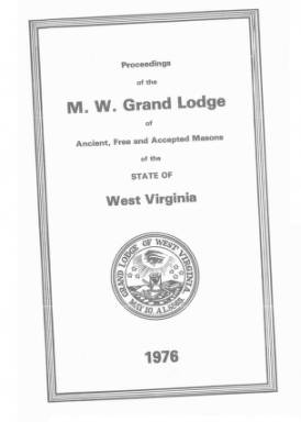 1976 - Proceedings of the Grand Lodge, A.F. & A.M., of West Virginia