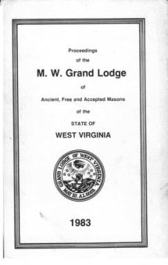 1983 - Proceedings of the Grand Lodge, A.F. & A.M., of West Virginia