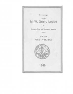 1989 - Proceedings of the Grand Lodge, A.F. & A.M., of West Virginia