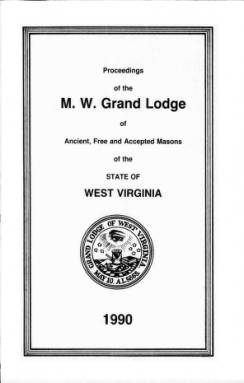 1990 - Proceedings of the Grand Lodge, A.F. & A.M., of West Virginia