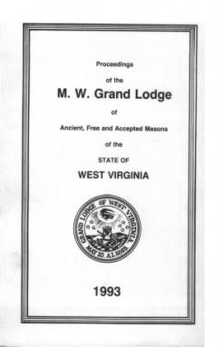 1993 - Proceedings of the Grand Lodge, A.F. & A.M., of West Virginia