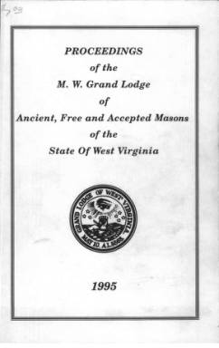 1995 - Proceedings of the Grand Lodge, A.F. & A.M., of West Virginia