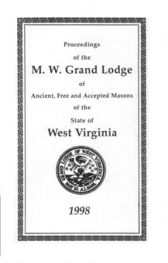 1998 - Proceedings of the Grand Lodge, A.F. & A.M., of West Virginia