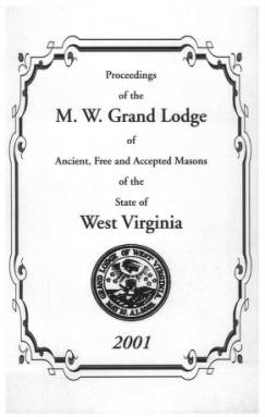 2001 - Proceedings of the Grand Lodge, A.F. & A.M., of West Virginia