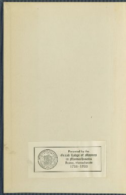 1826-1844 - Proceedings of the Grand Lodge of the Commonwealth of Massachusetts