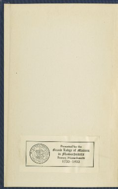 1792-1815 - Proceedings of the Grand Lodge of the Commonwealth of Massachusetts