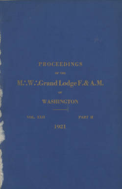 1921 - Proceedings of the Grand Lodge of Washington - Sixty-fourth Annual Grand Communication