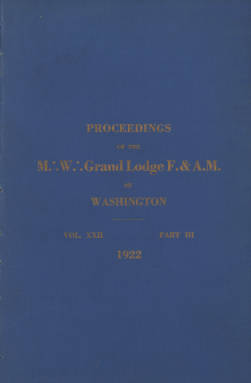 1922 - Proceedings of the Grand Lodge of Washington - Sixty-fifth Annual Grand Communication