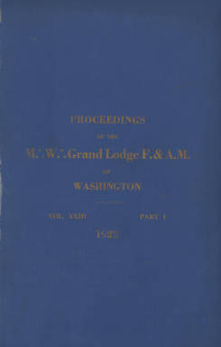 1923 - Proceedings of the Grand Lodge of Washington - Sixty-sixth Annual Grand Communication