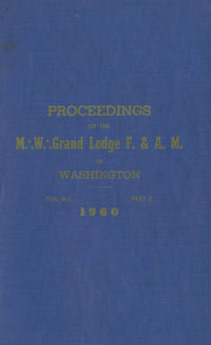 1960 - Proceedings of the Grand Lodge of Washington - One hundred third Annual Grand Communication