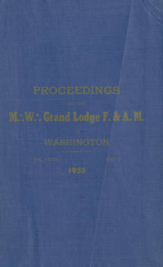 1955 - Proceedings of the Grand Lodge of Washington - Ninety-eighth Annual Grand Communication