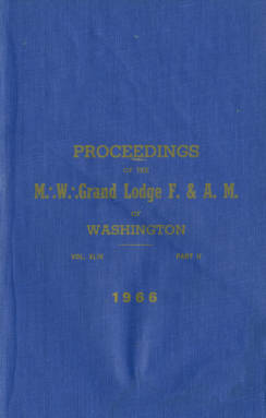 1966 - Proceedings of the Grand Lodge of Washington - One hundred ninth Annual Grand Communication