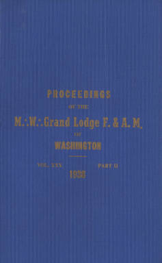 1938 - Proceedings of the Grand Lodge of Washington - Eighty-first Annual Grand Communication