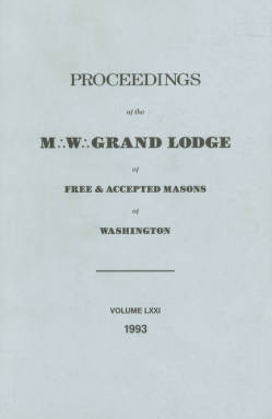1993 - Proceedings of the Grand Lodge of Washington - One hundred thirty-sixth Annual Grand Communication
