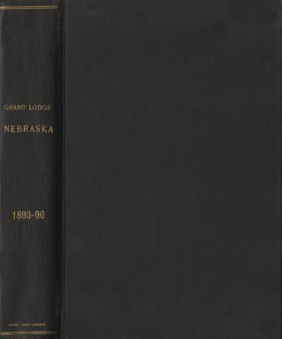 1893-1896 - Proceedings of the Grand Lodge of Nebraska