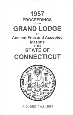 1957 Proceedings of the Grand Lodge of Ancient Free and Accepted Masons of the state of Connecticut