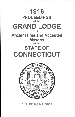 1916 Proceedings of the Grand Lodge of Ancient Free and Accepted Masons of the state of Connecticut