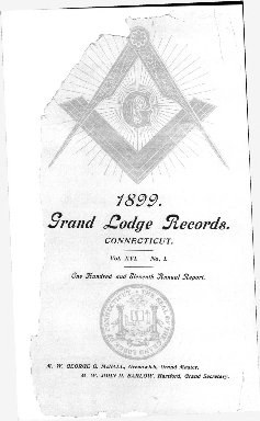 1899 Proceedings of the Grand Lodge of Ancient Free and Accepted Masons of the state of Connecticut
