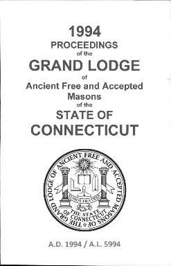 1994-1995 Proceedings of the Grand Lodge of Ancient Free and Accepted Masons of the state of Connecticut