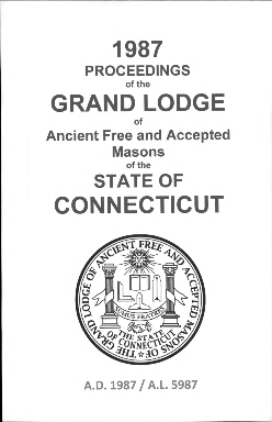 1987 Proceedings of the Grand Lodge of Ancient Free and Accepted Masons of the state of Connecticut