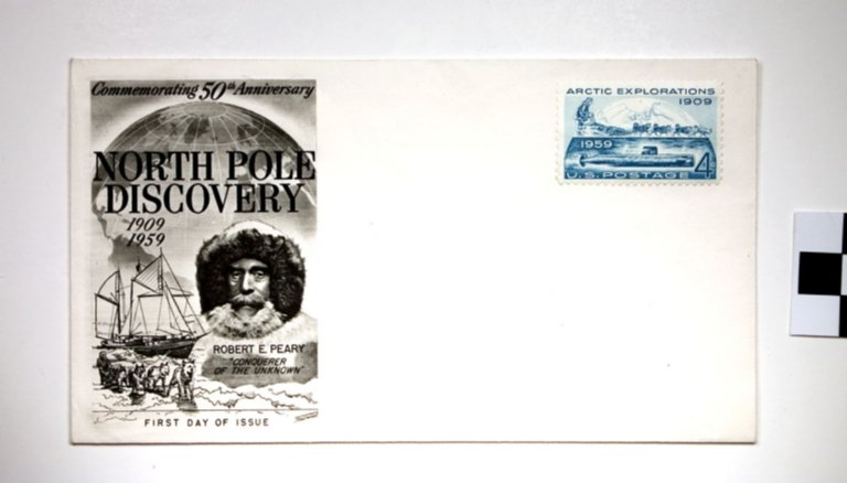 E75-18; Envelope/Stamp, First Day of Issue, 50 Years of Arctic Explorations