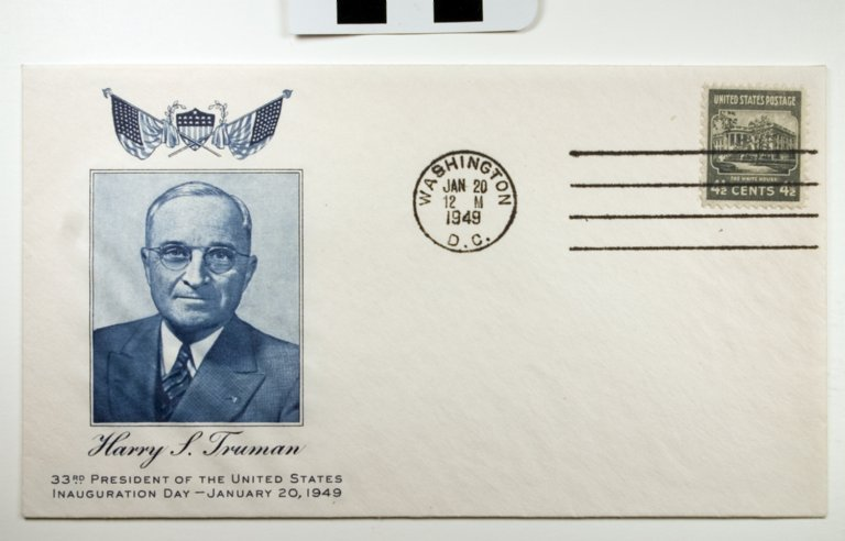 E67-39; Envelope/Stamp, First Day Cover, United States President Truman inauguration