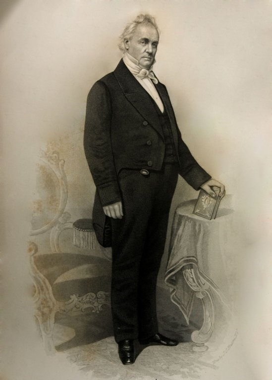 e. President James A. Buchanan<br>Fifteenth President of the United States, 1857 - 1861<br>(1857; 1858; 1859; 1860; 1861)<br><br>Elected Life Member of Lodge No. 43; 1858<br>First District Deputy Grand Master for the District comprised of Lancaster, Lebanon and York Counties, Pennsylvania; 1823; 1824<br>Master of Lodge No. 43, Lancaster, Pa.; 1822; 1823